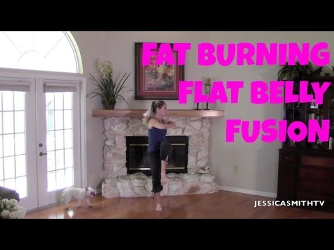 Fat Burning Flat Belly Fusion Workout   Full Length Workout Video For Abs, Stomach, Belly Pooch
