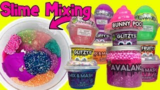 MIXING SLIME! Compound Kings Slimes Surprise Slime Eggs Fluffy Slime + Crunchy Slime - Slime Videos