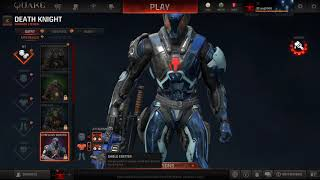 Quake Champions in 4K - Death Knight skins, cosmetics & Shaders
