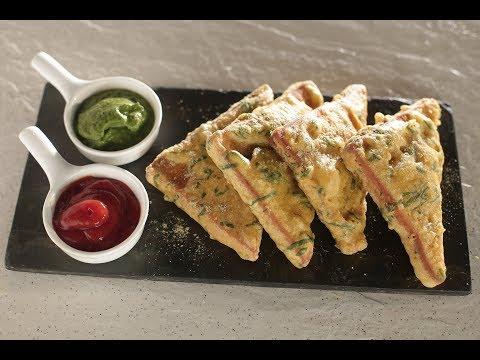Palak Bread Pakora | Sanjeev Kapoor Khazana