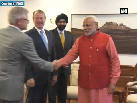 Cisco chairman, US India Business Council CEO meet PM Modi