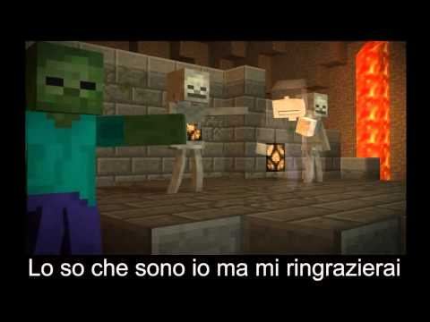 Minecraft: ♪ Dont Mine At Night Sub. ITA Last Friday Night Parody