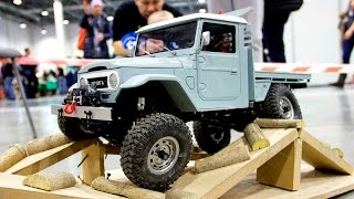 OFF Road Capabilities of RC Toyota FJ45 on Exhibition HobbyTime 2016  (video 2 of 4)