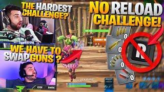 *CHALLENGE* NO RELOADING !? ft. Nickmercs (Fortnite Battle Royale - No Reload Challenge)