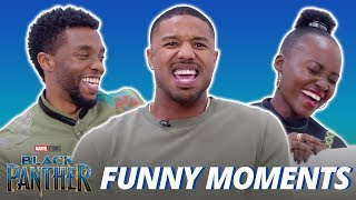 Black Panther Cast Is Hilarious - Funny Moments 2018