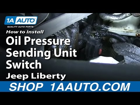 How To Install Replace Oil Pressure Sending Unit Switch 3.7L 2003-12 Jeep Liberty
