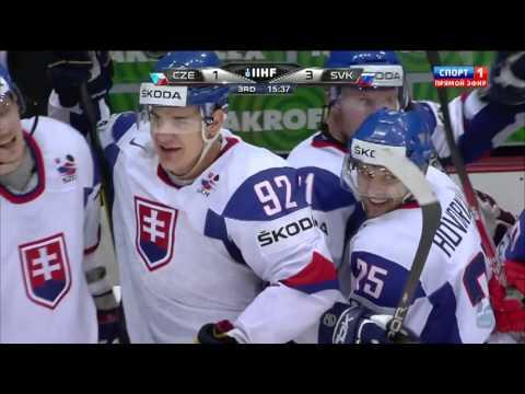 1/2-Final SLOVAKIA - CZECH REP. 3:1 █ Goals IIHF WC 2012 MS v hokeji Slovensko Česko / Česká