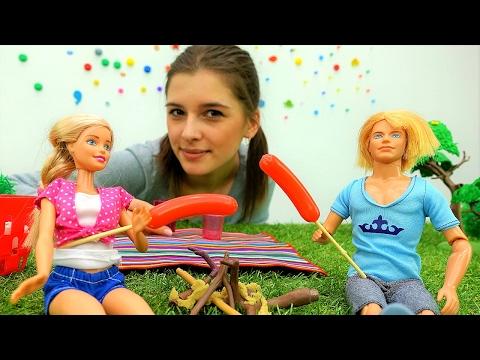 Кукла #Барби и Кен идут на 🍢 ПИКНИК! Видео для девочек про кукол. Видео Игрушки #куклы Мамы и Дочки