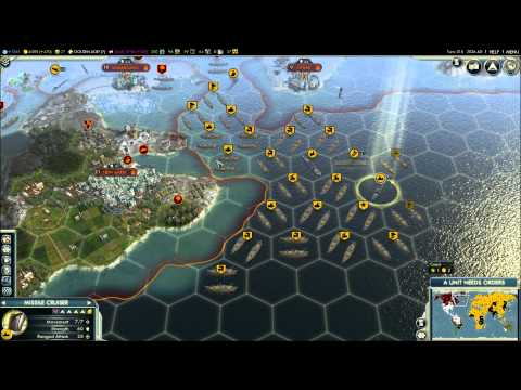 Civilization V - Episode 9, part 1 - Russia vs Japan & Mongolia