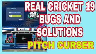 Real Cricket 19 Bug and solutions with proof