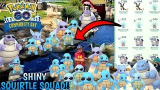 BEST POKEMON GO EVENT EVER!! ETHANS FAVORITE SQUIRTLE COMMUNITY DAY! WE CATCH SHINY SQUIRTLE SQUAD!