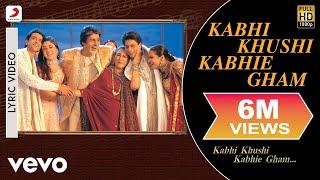 Kabhi Khushi Kabhie Gham Lyric - Title Track   Shah Rukh Khan   Lata Mangeshkar