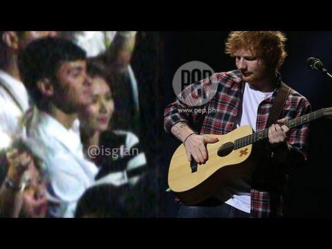 Sarah Geronimo And Matteo Guidicelli Spotted At Ed Sheeran's Manila Concert video