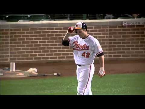 Chris Davis Snaps His Bat Like A Twig.