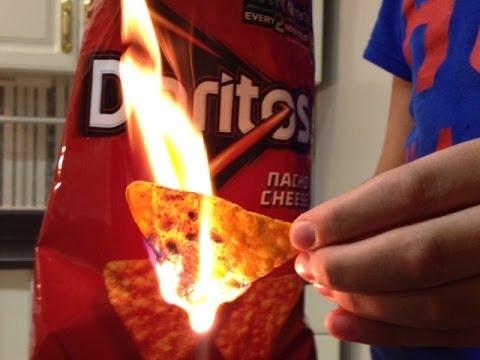 How to build a fire using Doritos