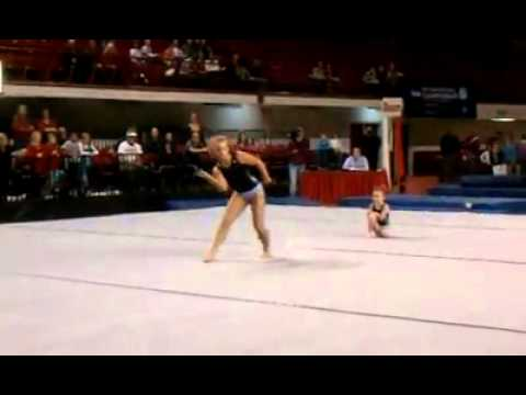 Tiny 5 Year Old Gymnast Cam ROCKS NC State!