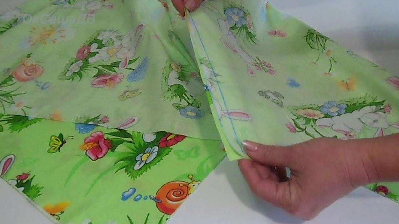Простынь на резинке для детской кроватки 120х60 своими руками