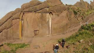 Flight Over The Megalithic Devil's Doorway In Peru
