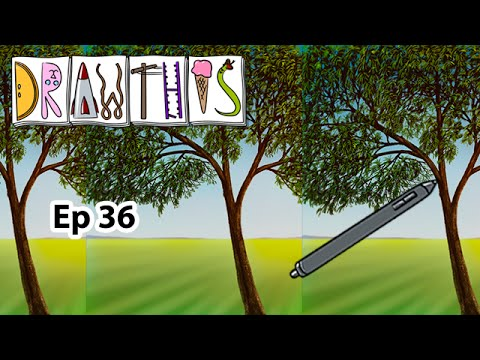 Corel Painter - How to Paint Trees - Draw This #36