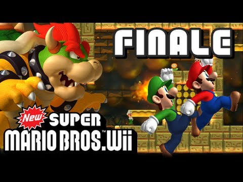 New Super Mario Bros Wii - (1080p) Part 18 - Bowser's Castle FINALE