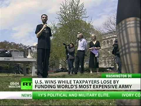 Activists protest US military budget