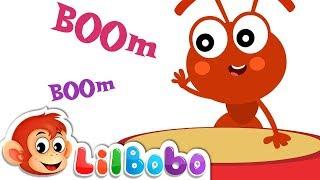 Boom Boom : Ants Go Marching | Little BoBo Nursery Rhymes | Flickbox Kids Songs | Learn Numbers