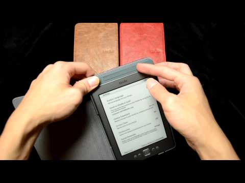 Kindle 4 case with built in light.MOV