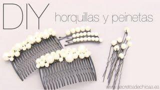 Adornos para el pelo con perlas preparar tu boda es - Como hacer adornos para el pelo ...