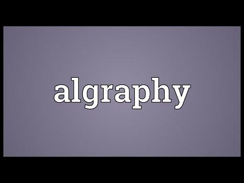 Header of algraphy