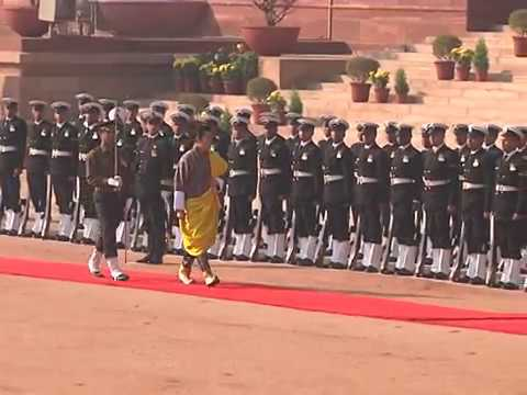 Ceremonial Reception to the King of Bhutan - 25-01-13