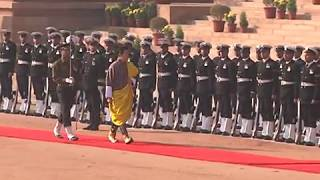 Ceremonial Reception of the King of Bhutan at Rashtrapati Bhavan