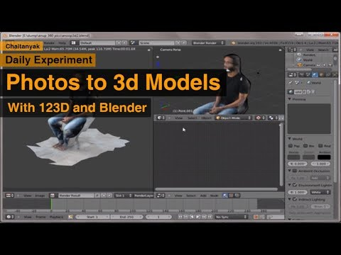 photos to 3d models with 123D and Blender