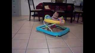 3 Months Young Baby on Her Walker