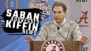 Nick Saban addresses Lane Kiffin's new job as head coach of Florida Atlantic