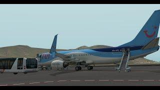 [X-Plane 11] TFL422 São Vicente(GVSV) Sal(GVAC) Zibo boeing 737-800