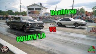 Street Outlaws Deathtrap vs Goliath 2.0 Jackson Dragway Chuck Has a Message for Season 10!! (4k)