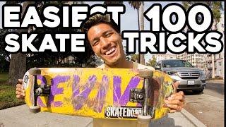 FIRST 100 SKATEBOARD TRICKS EVERYONE SHOULD LEARN!