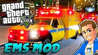GTA 5 EMERGENCY SERVICES MOD - EMS Patrol in an Ambulance
