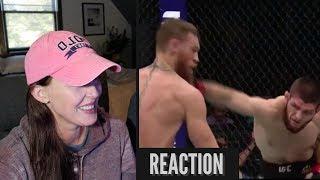 Mom REACTS to Conor McGregor vs Khabib Nurmagomedov FIGHT