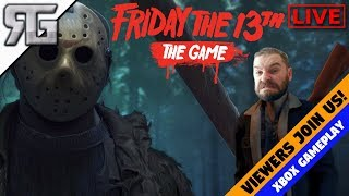 Friday the 13TH: THE GAME LIVE! Playing With Viewers-Random Everything!