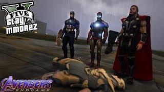 Avengers VS Thanos! Avengers Endgame Final Battle (GTA 5 Superhero Roleplay)