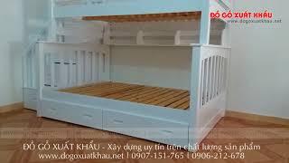 Giường 2 tầng gỗ giá rẻ nhất cho trẻ em và người lớn tại TPHCM