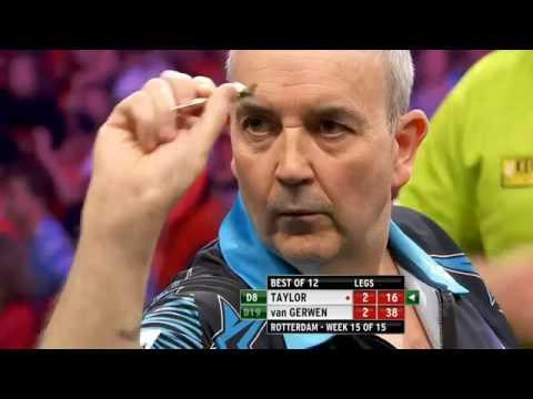 Premiere League darts week 15 Van Gerwen vs Taylor