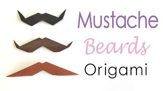 Easy☺︎ Origami Paper mustache (moustache) beard styles✨ - Origami Kawaii