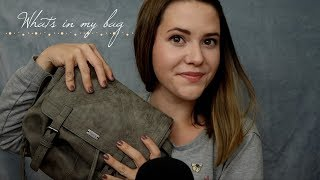 ASMR Whats in my Bag? ♡ Beruhigende TAPPING & WHISPER Sounds in German/Deutsch