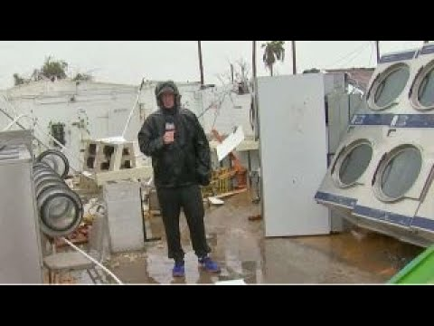 Rockport, Texas laundromat destroyed by Hurricane Harvey