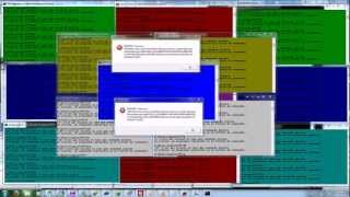 crazy windows 7 error , popup , effect . 2013