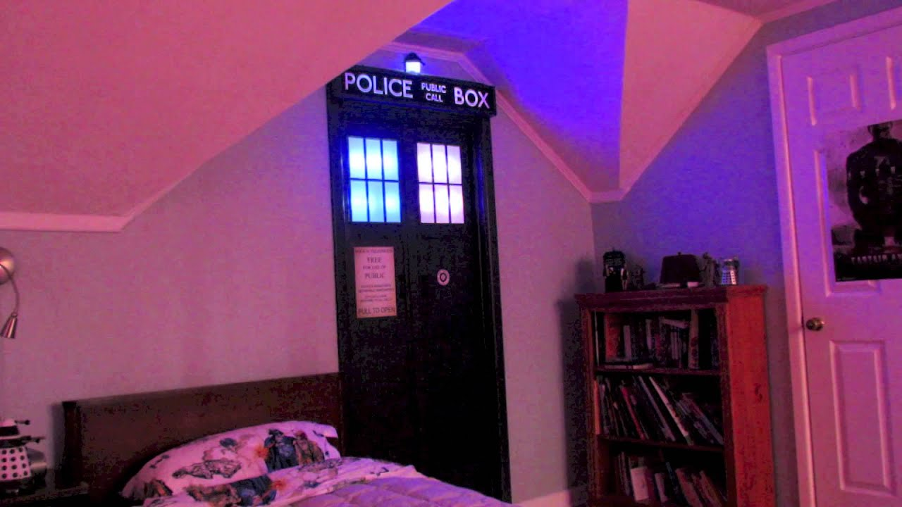 the tardis in the bedroom youtube