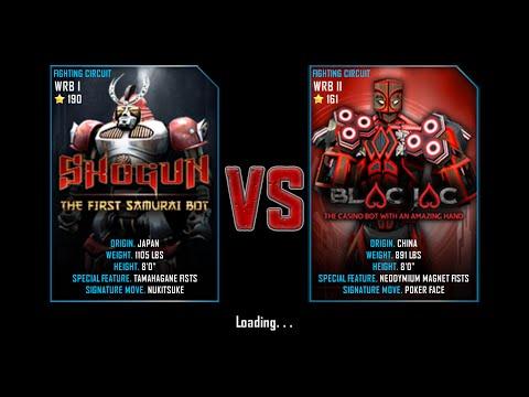 Real Steel WRB Free Sparring Shogun VS Black Jac NEW ROBOT UPDATE