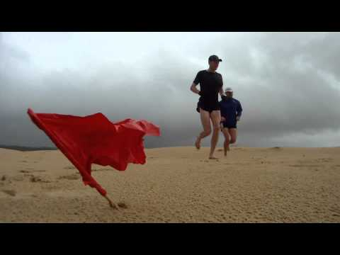 Sand dune running workout - Stockton Beach Australia